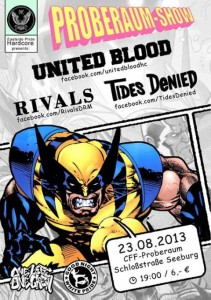 Proberaum Show United Blood